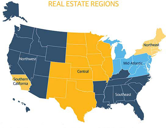 Contact Us Northwestern Mutual Real Estate - Northwestern us map
