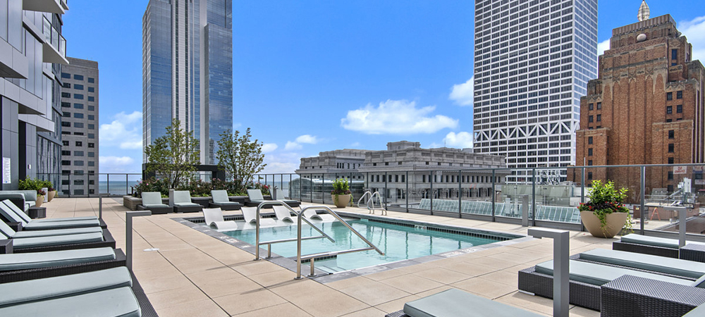 Pool deck of 7Seventy7 building